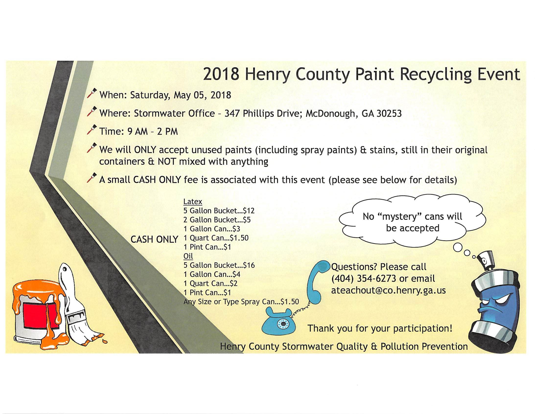 2018 PAINT RECYCLING